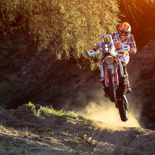 Laia Sanz (ESP) of KTM Factory Racing Team races during stage 13 of Rally Dakar 2018 from San Juan to Cordoba, Argentina on January 19, 2018. // Flavien Duhamel/Red Bull Content Pool // P-20180119-01046 // Usage for editorial use only // Please go to www.redbullcontentpool.com for further information. //